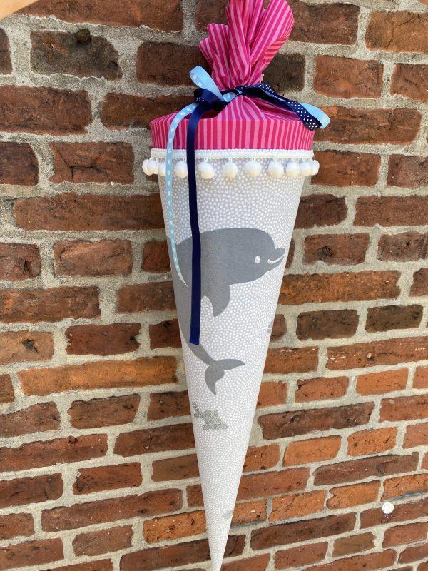 Schultüte 70cm Delphin