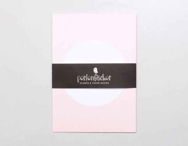 Postkarte Rosa